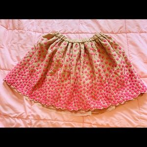 Girl's pink party skirt